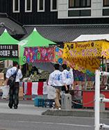 祭りを盛り上げるグルメ、イベントが盛りだくさん